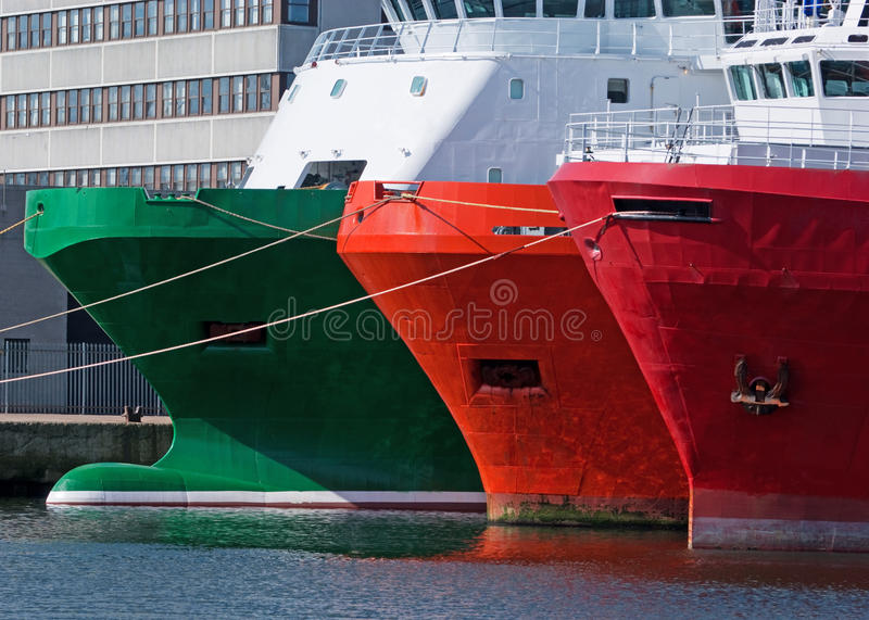 Download Moored Ships stock image. Image of cargo, ship, marine - 14233127