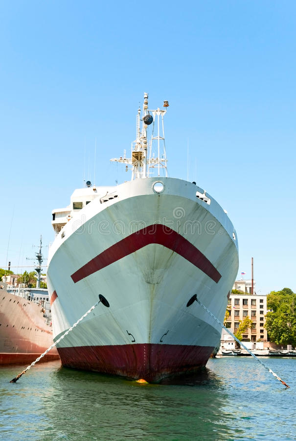 Moored vessel royalty free stock photography