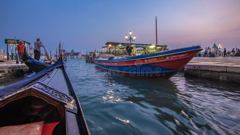 Mooring Boat On Sea Pier stock image