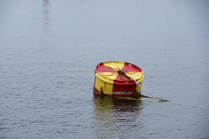 Mooring drum. Water buoy for mooring ships royalty free stock images