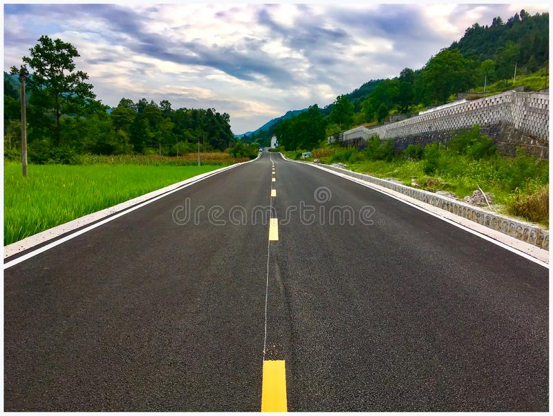 The mooring road in my hometown stock photos