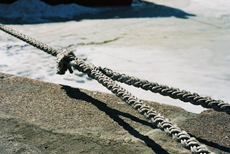Mooring rope royalty free stock image