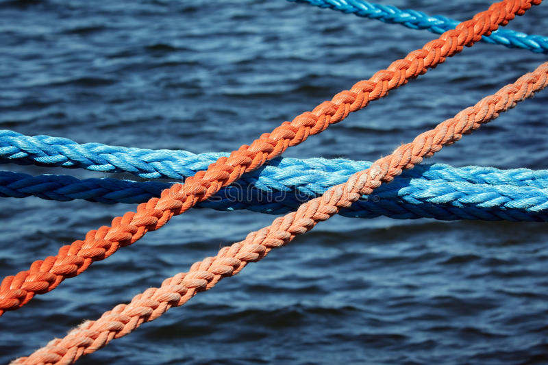 Download Mooring Ropes Securing Ships Stock Photo - Image of string, nautical: 14075312