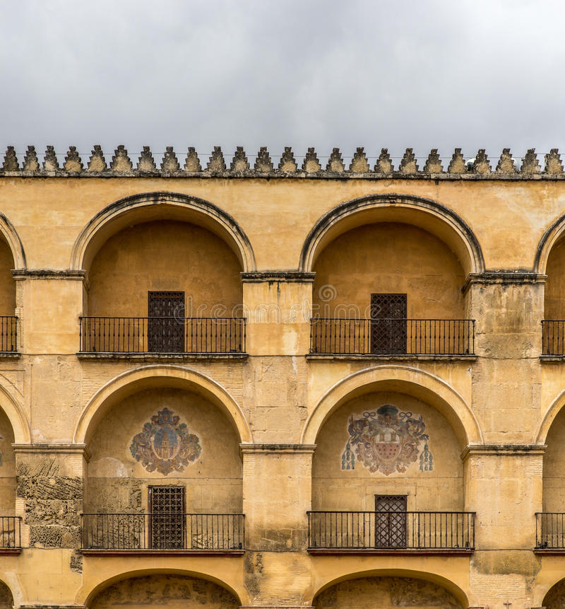 Moorish architecture. Facade of typical moorish architecture, decoration and colors royalty free stock images