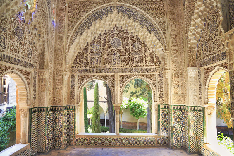 moorish architecture of the nasrin palace the alhambra editorial