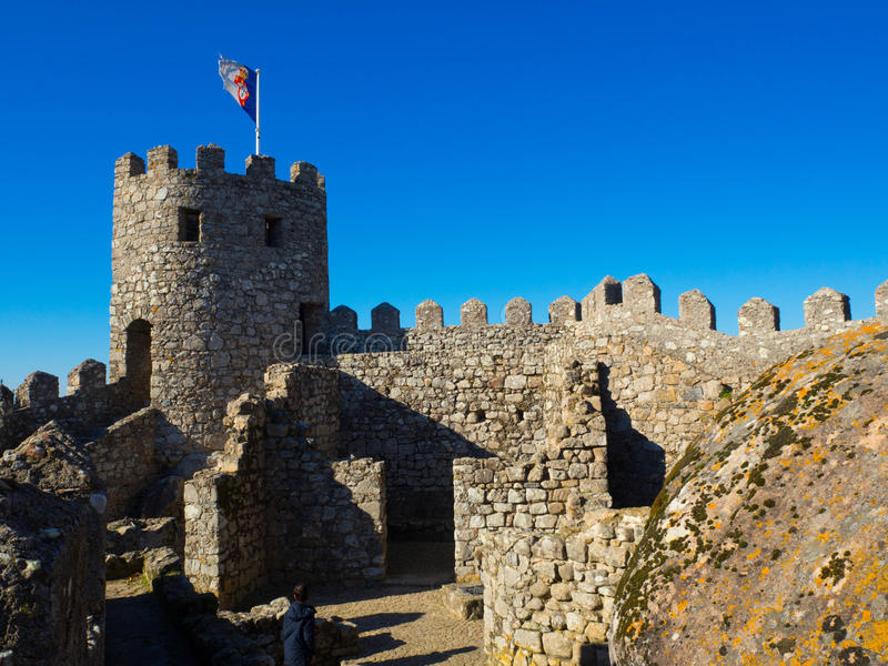 Moorish Castle, Sintra, Portugal royalty free stock image