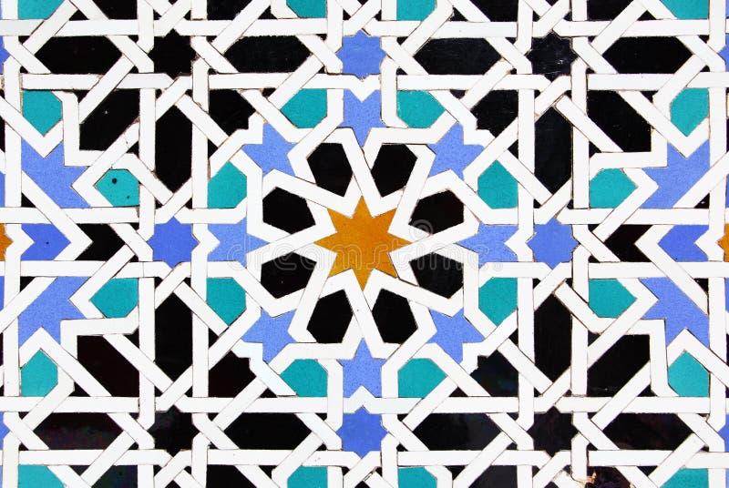 Moorish ceramic tiles stock images