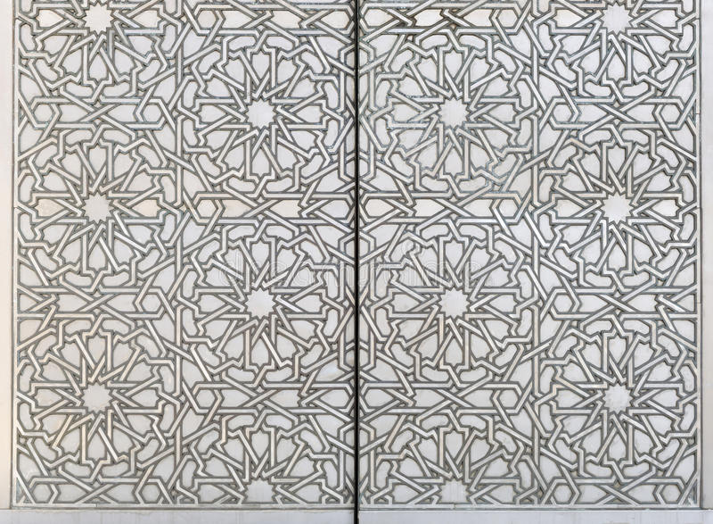 Moorish Metal Pattern. An ornate metal pattern in Moorish style stock photo