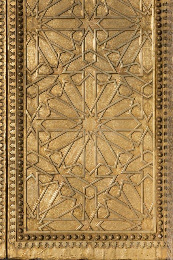 Moorish Metal Pattern. An ornate metal pattern in Moorish style royalty free stock photo