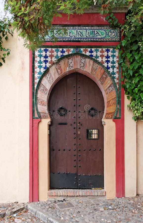 Download Moorish Style Door Of A House In Granada, Spain Stock Image - Image: 23321119