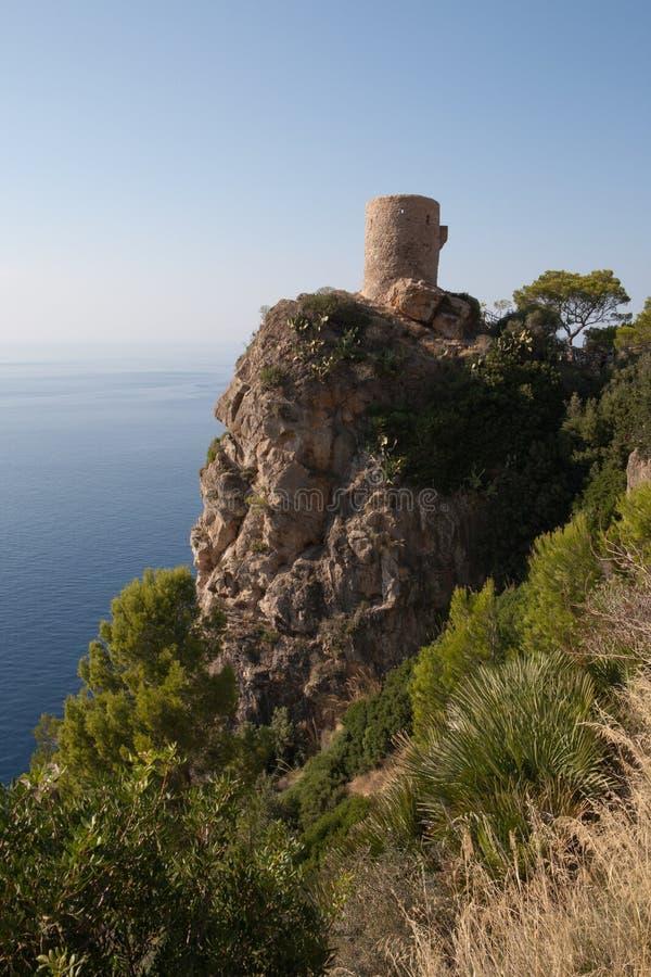 Moorish Watch Tower. (Tower of Six Spirits), Mallorca, Spain royalty free stock photo