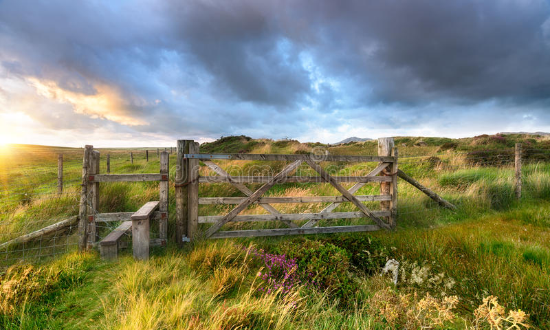 Moorland gate royalty free stock images