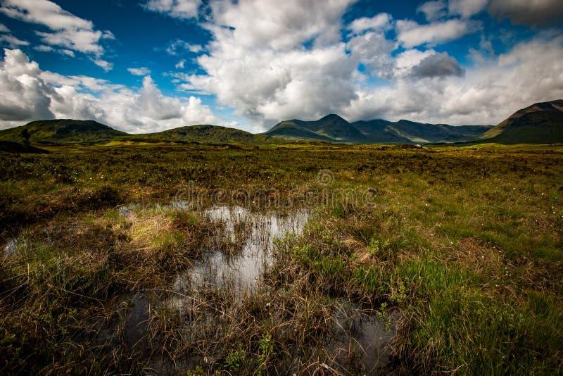 Moorland i góry obrazy royalty free