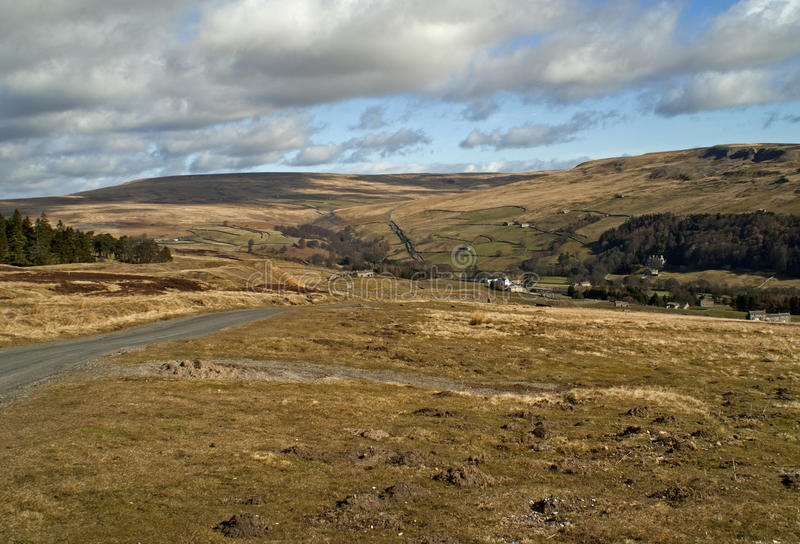 Moorland Road royalty free stock image