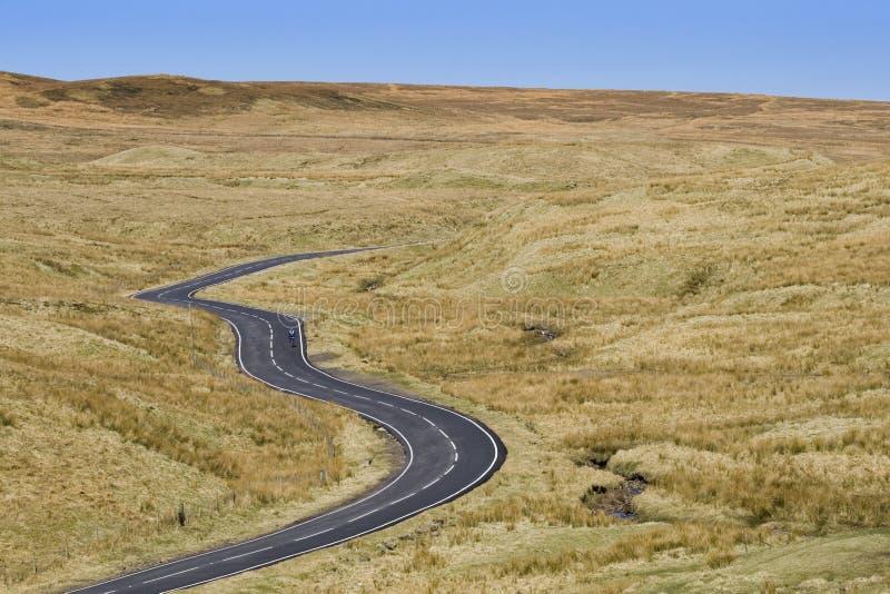 Moorland road stock photography