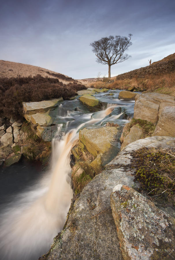 Download Moorland waterfall stock photo. Image of lone, cascade - 33281956