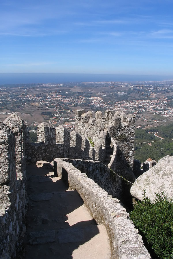 Download The Moors Castle - Sintra - Portugal Stock Image - Image: 198801