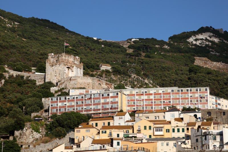 Moors kasteel in Gibraltar royalty-vrije stock foto