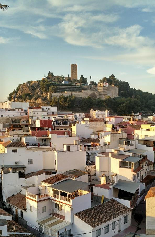 Moorse stad in Andalucia, Zuidelijk Spanje royalty-vrije stock afbeelding