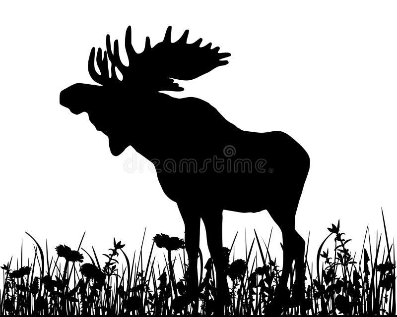 Moos en el prado ilustración del vector