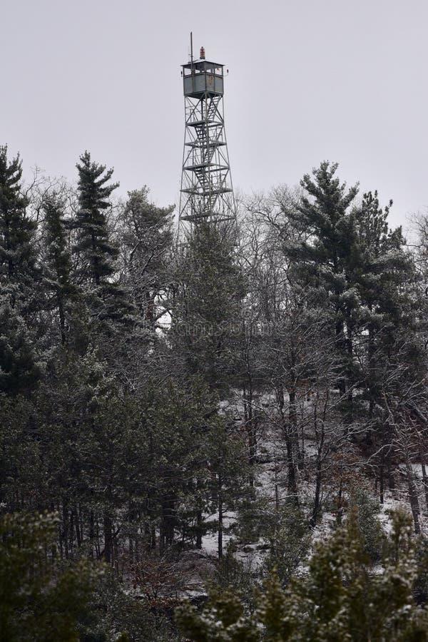 Moosbeerfelsen-Ausblick-Turm lizenzfreies stockbild