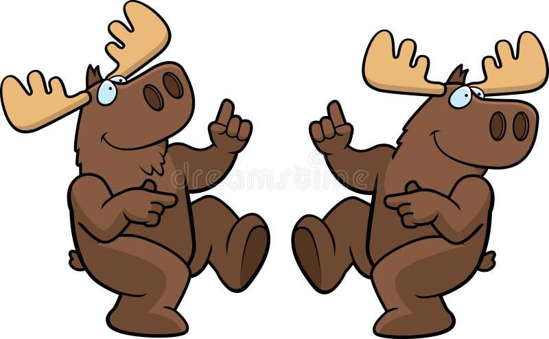 Moose Dancing stock illustration