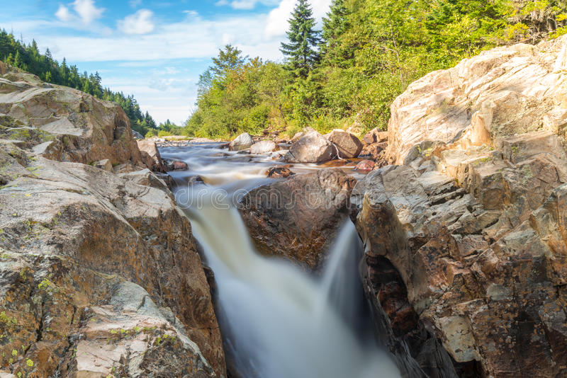 Moose Horn Trail Fall. (Fundy National Park, New Brunswick, Canada stock images