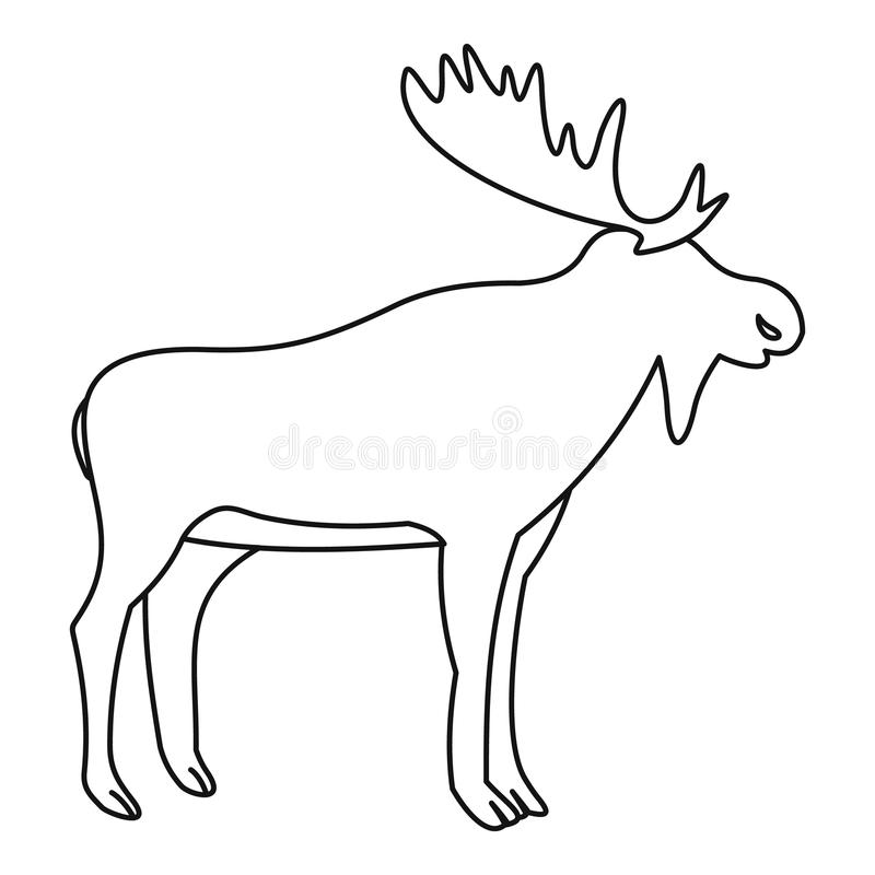moose icon outline style stock vector image of male
