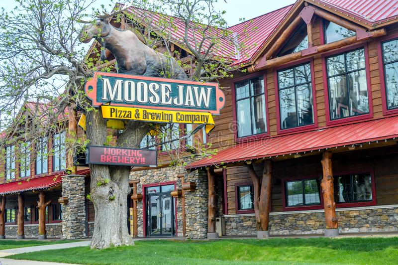 Moose Jaw Pizza and Brewing Company - Wisconsin Dells royalty-vrije stock fotografie