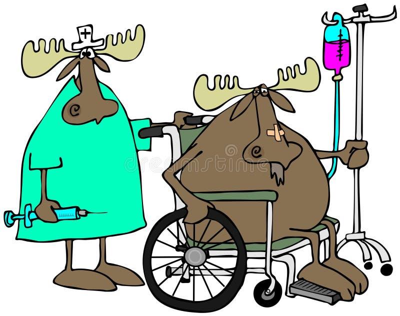 Download Moose patient & nurse stock illustration. Illustration of syringe - 40775518