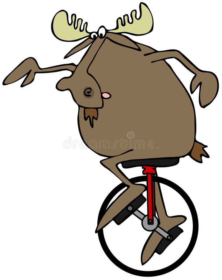 Download Moose Riding A Unicycle Stock Images - Image: 36613724
