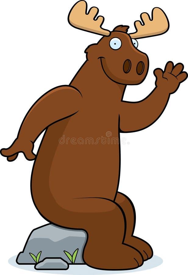 Download Moose Sitting stock vector. Image of happy, brown, waving - 15054619