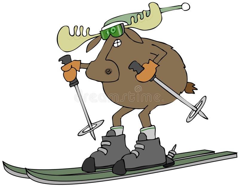 Download Moose on skis stock illustration. Image of stocking, cartoon - 36359513