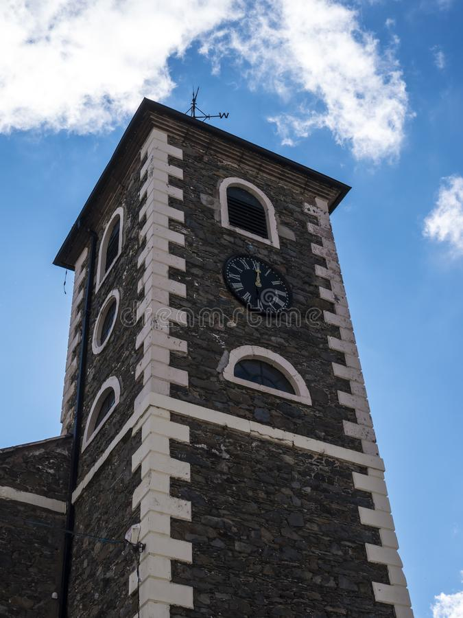 The Moot tower in Keswick in north-western England, in the heart of the Lake District. Keswick is a market town in northwest England's Lake District stock photo