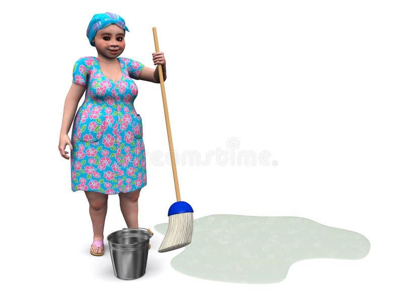 Download Mop повелительницы пола готовый к Иллюстрация штока - иллюстрации насчитывающей полировать, ыборка: 18392416