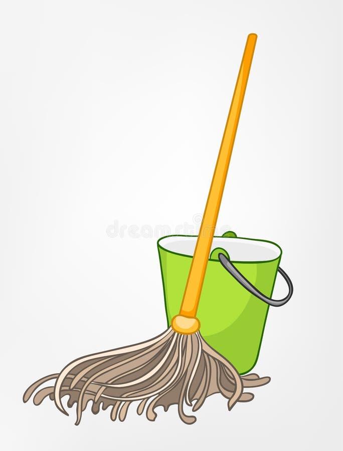 mop шаржа домашний разносторонний иллюстрация штока