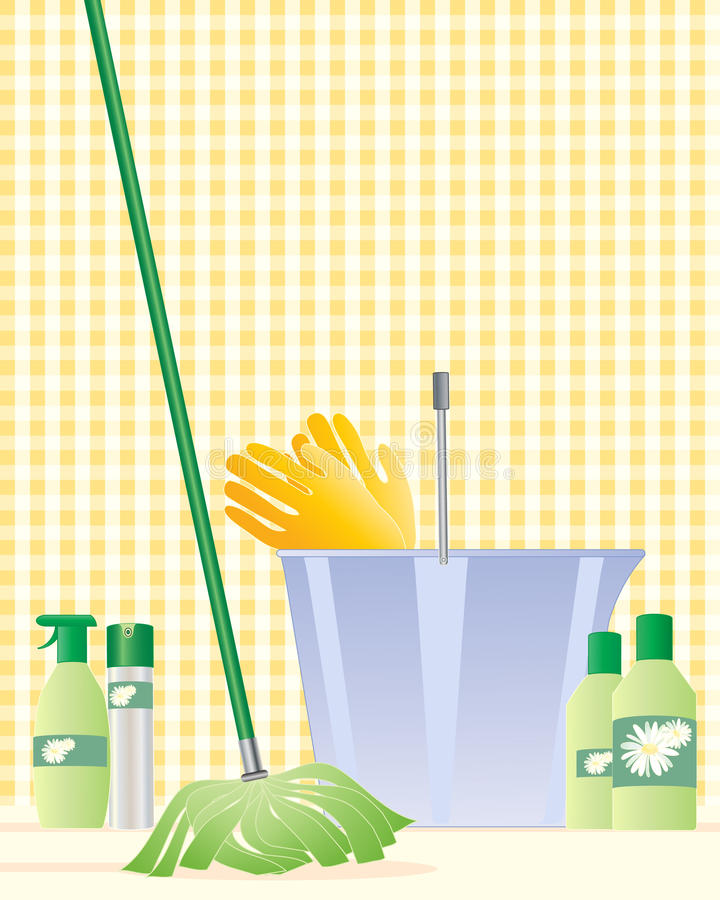 Download Mop and bucket stock vector. Image of products, sring - 27084406