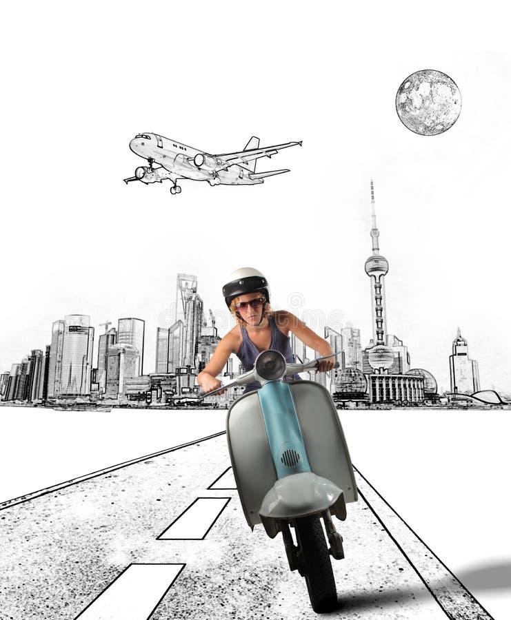 Moped lizenzfreie stockfotos