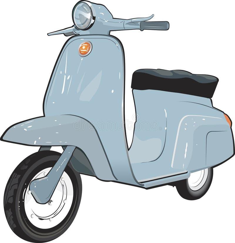 moped hulajnoga royalty ilustracja