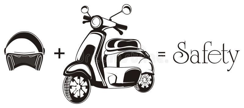 Moped i faszeruje royalty ilustracja