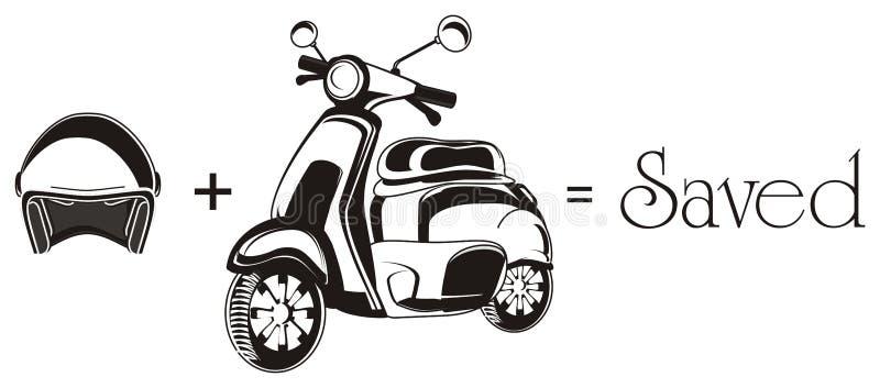 Moped i znaki royalty ilustracja