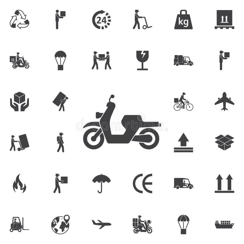 moped ikona wektor ilustracji