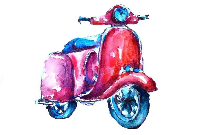 moped retro ilustracji