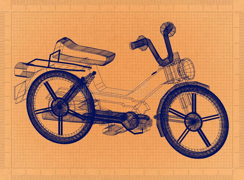 Moped - Retro projekt ilustracji