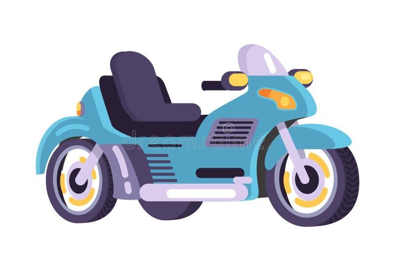 Mopeder ställde in den stilfulla objektvektorn för motorisk transport stock illustrationer