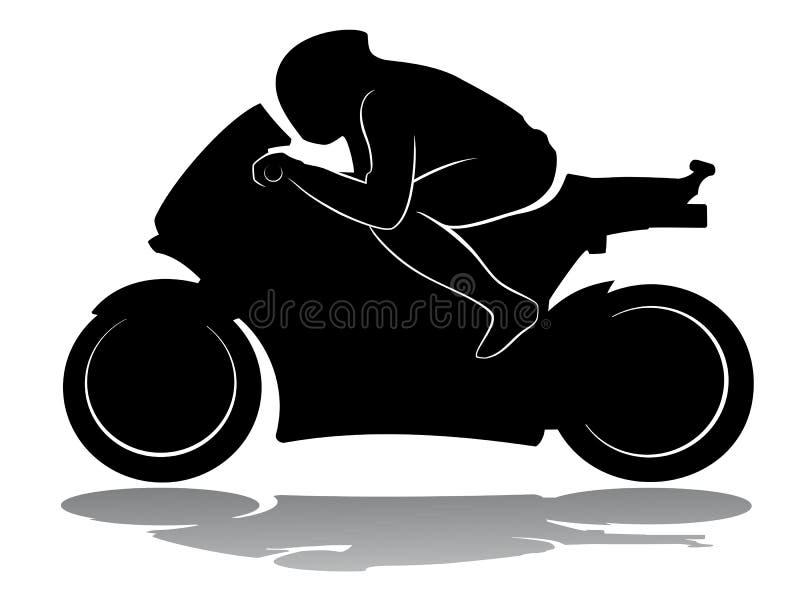 Mopedracerbil, vektorillustration royaltyfri illustrationer