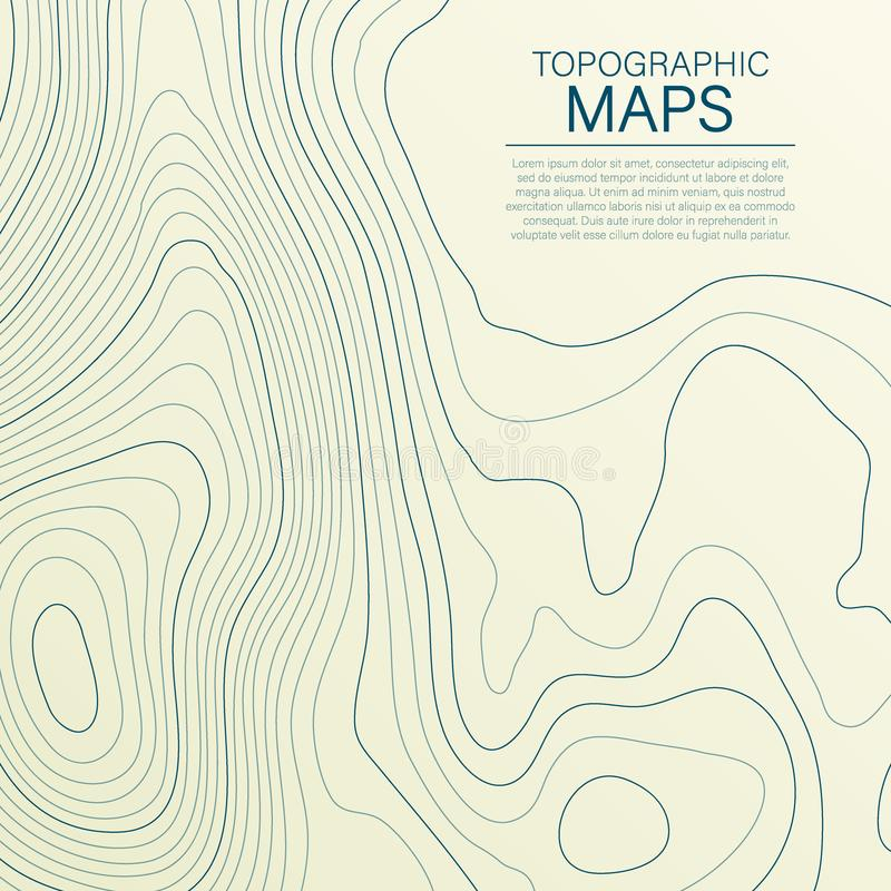Mopographic map. The stylized height of the topographic contour in lines and contours. Vector stock illustration vector illustration