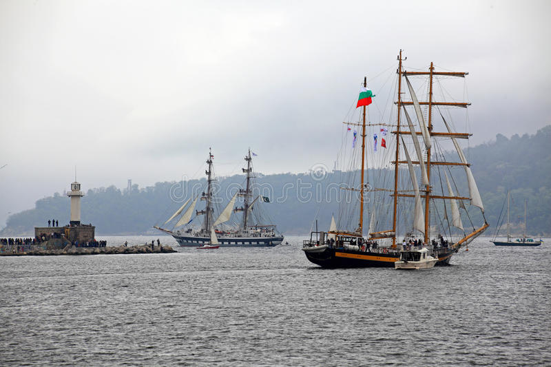 Download Port Varna During The Historical Seas Tall Ships Stock Photo - Image: 40364208