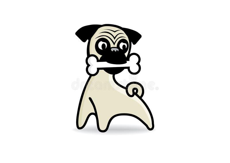 Mopsa psa wektor royalty ilustracja
