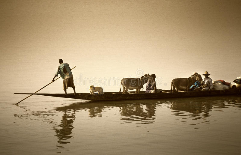 Download Mopti, Mali, Africa - The Port Of The City Where It Joins The Ba Editorial Photography - Image: 81273592